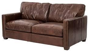vintage cigar distressed leather sofa