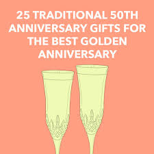 25 traditional 50th anniversary gifts