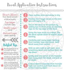 Decal Application Instructions Care Card Printable Care Card Instructions Printable Care Instructions Vinyl Application Instructions Instruction Cricut Projects Instructional Design