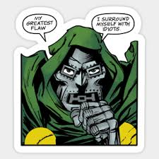 Dr Doom Stickers Teepublic