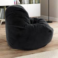 Bean Bag Comfy Chair Dorm Teen Kids Room Lounger Large Big Foam Microfiber Black For Sale Online