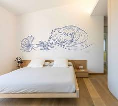 Wave Wall Decals Ocean Wave Wall Decals Ocean Beach Waves Wall Stickers Ocean Wall Decals Sea Wall Decal Stickers For Bedrooms Kik3416 In 2020 Wall Decals Wall Decal Sticker Wall Stickers Ocean