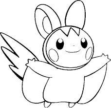Emolga Kleurplaten Pokemon Tekenen