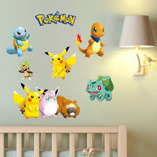 Pokemon Wall Stickers For Kids Rooms Home Decorations Pikachu Wall Decal Amination Poster Wall Art Wallpaper Kids Wish