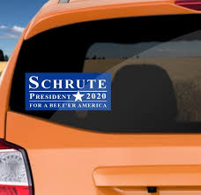 Schrute For President 2020 Bumper Sticker Decal Dwight Etsy
