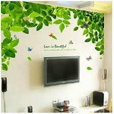 Green Tree Wall Decals Green Leaves Vinyl Wall Decals Etsy
