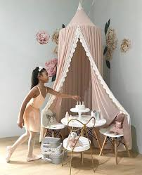 Indoor Princess Castle Play Tent Bed Canopy Kids Bedroom Decor Reading Nook