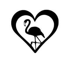 Decals Stickers Collectibles Automobilia Transportation Pink Flamingo Heart Vinyl Decal Yard Bird Spinner Lawn Ornament Car Window Sm Zsco Iq