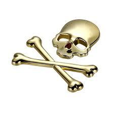 3d Jolly Roger Skull Crossbones Decal For Your Car