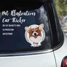 Corgi On Board Corgi Car Stickers Corgi Vinyl Window Decal Pet Decal Animal Decal Bumper Stickers Dog Decal Pet Stickers C Car Stickers Dog Stickers Dog Decals