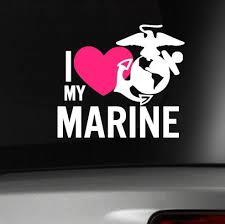 I Love My Marine Car Decal Usmc Military Wife Girlfriend My Marine Marine Mom Usmc