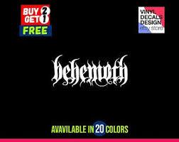 Behemoth Car Sticker Etsy