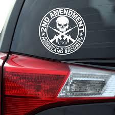 2nd Amendment Gun Owner Decal Southern Caliber Decals
