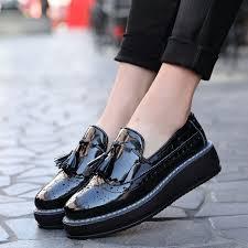 oxford flats platform shoes patent