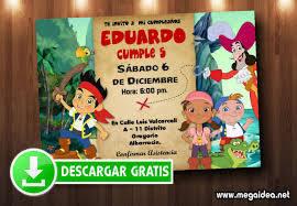 Invitaciones Jake Y Los Piratas Para Editar Mega Idea