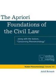 The Apriori Foundations of the Civil Law - Adolf Reinach, John Crosby - Bok  (9783110329667) | Bokus