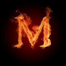 خلفية حرف m