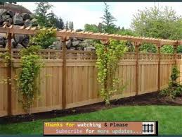Fencing Ideas For Backyards Fences Gates Collection Youtube
