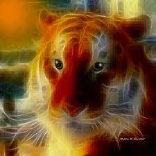 Mosaic Glass Tiger Digital Art by Madeline Allen - SmudgeArt