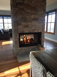 double sided wood gas fireplace