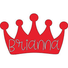 Crown Name Decal Princess Crown Name Queen Etsy