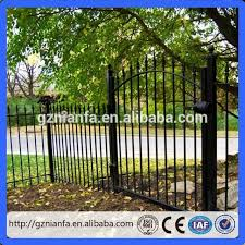 Cheap Used Wrought Iron Fence For Sale Steel Fence Metal Fence Guangzhou Factory Iron Fence Wrought Iron Fences Arch Gate