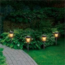 Arlec Solar Flame Effect Garden Light 4 Pack Bunnings Warehouse