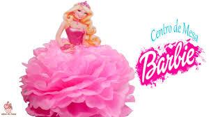 Centro De Mesa De Barbie Princesa Muy Facil Sabor De Fiesta