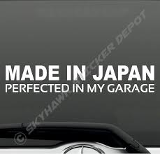 Made In Japan Barcode Turbo Decal Funny Car Vinyl Sticker Jdm Window Import Ill Ebay Vinyl Bumper Stickers Funny Bumper Stickers Truck Bumper Stickers