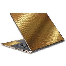 Skin Decal For Hp Spectre X360 15t Laptop Vinyl Wrap Gold Pattern Shiney Walmart Com