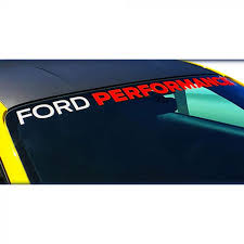 Ford Performance M 1820 Mr Mustang Windshield Banner White And Red 2005 2020