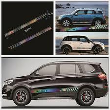 Diy 2x Sports Racing Car Colorful Laser Reflective Graphics Vinyl Decal Sticker Ebay