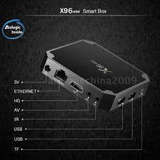 X96 Mini TV Box Android 7.1.2 Amlogic S905W Quad Core WiFi HD 2GB ...