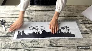 How To Apply Wall Stickers With Transfer Film Youtube