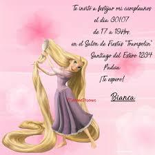 Invitacion Cumpleanos Princesa Rapunzel