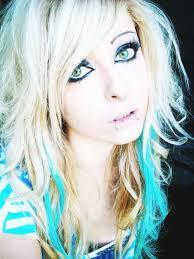 hair style blonde blue curly eyes