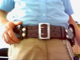 police leather duty belt sam browne