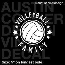 5 Volleyball Family Vinyl Decal Car Window Laptop Sticker Team Gift Ebay