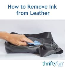how to remove ink from leather thriftyfun