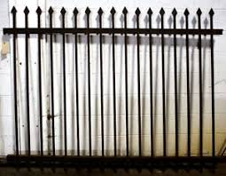 80 X60 Antique Vintage Picket Cast Iron Metal Gate Fence Fencing Panel Section Ebay