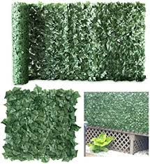 Amazon Com Petgrow Artificial Ivy Trellis Fence Privacy Screen Faux Foliage Leaf Privacy Outdoor Boxwood Ivy Diy Decorations For Fence Garden Backdrop 39 X 118 Inch Garden Outdoor