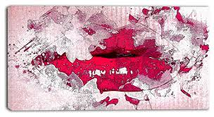 pucker up red lips canvas painting