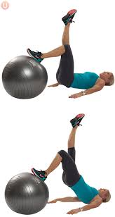 ility ball single leg lift