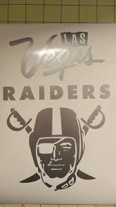 Las Vegas Raiders Car Decal 16 Inches Tall Oracal Raiders Car Oakland Raiders Logo Oakland Raiders Fans