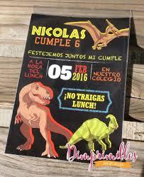 Invitacion Dinosaurios Fiesta De Cumpleanos De Dinosaurio