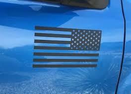 2 Matte Black American Flag Vinyl Decal Sticker Jeep Tacoma F 150 Silverado Ebay