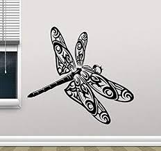 Amazon Com Dragonfly Wall Decal Insect Animal Vinyl Sticker Nursery Wall Decor Cool Wall Art Kids Teen Girl Boy Room Wall Design Modern Bedroom Wall Decor Mural 81cgd Home Kitchen