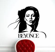 Beyonce Wall Sticker Celebrity Pop Star Music Vinyl Decal Retro Art Decor Bar Studio Club Restaurant Home Interior Room Mural Wall Sticker Music Vinylvinyl Decal Aliexpress