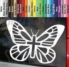 Butterfly Pretty Christian Cross 6 Vinyl Sticker Decal Car Truck Choose Color Ebay