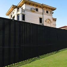 Black Woven Privacy Fence Screen For Outdoor Back Yard Patio Deck Wish